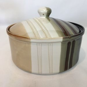 Large Round Ceramic Display Bowl with Lid